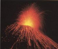 gambar gejala gunung meletus